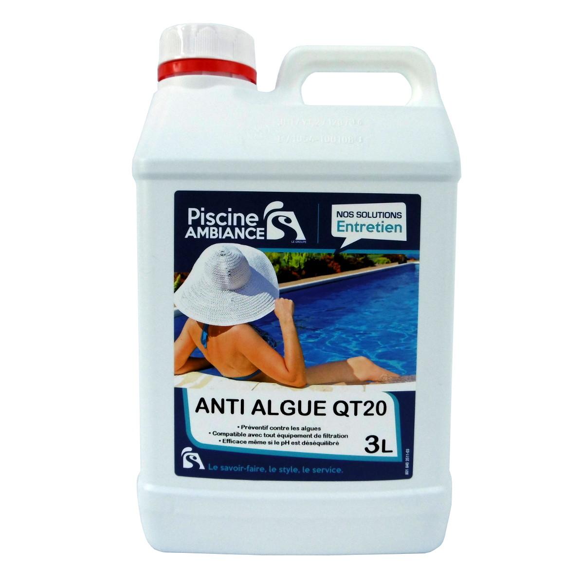 Anti algues QT20 3L | PISCINE AMBIANCES