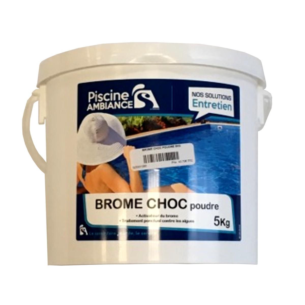 Brome choc poudre 5kg | PISCINE AMBIANCES