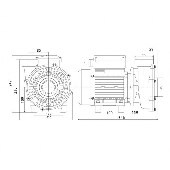 Pompe de filtration PHT 20 1,1kW   VIPOOL