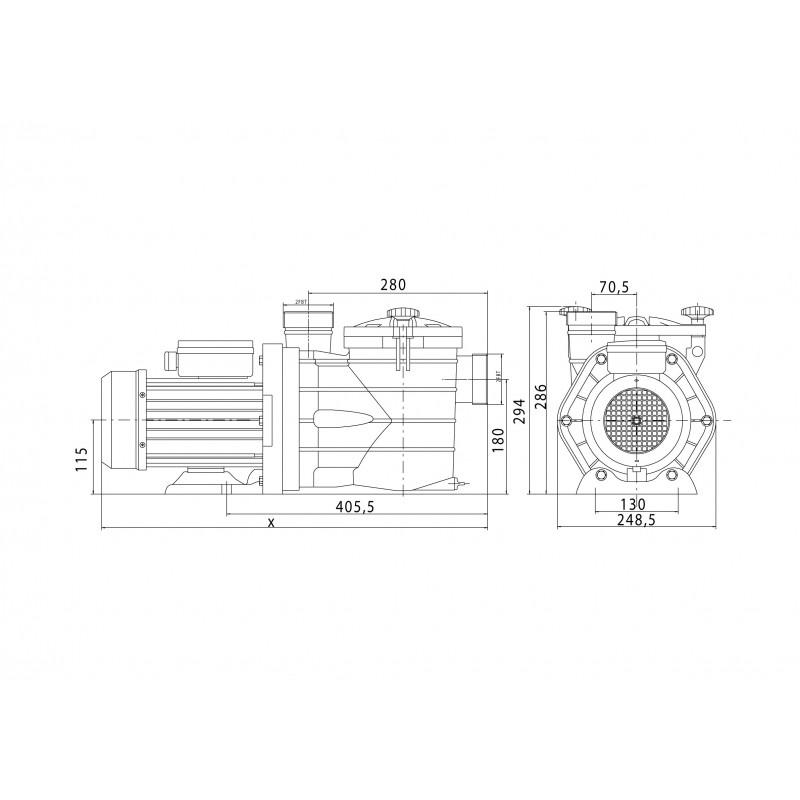 Pompe de filtration MJB 1 CV Tri   VIPOOL