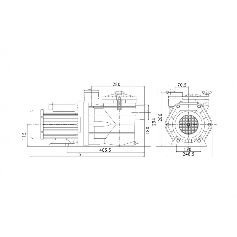 Pompe de filtration MJB 0,75 CV Mono | VIPOOL